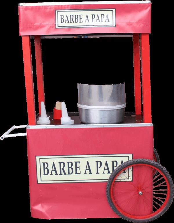 barbe à papa : la charrette