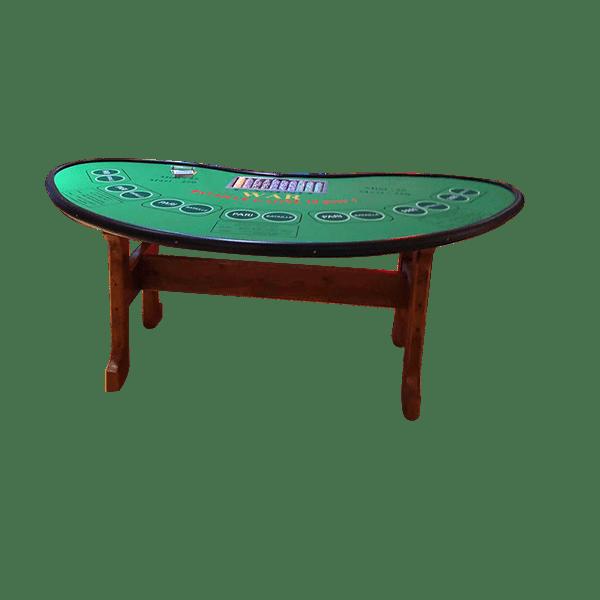 Casino - bataille - war : la table détourée