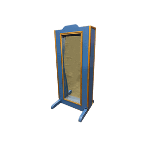 Miroir déformant : bleu