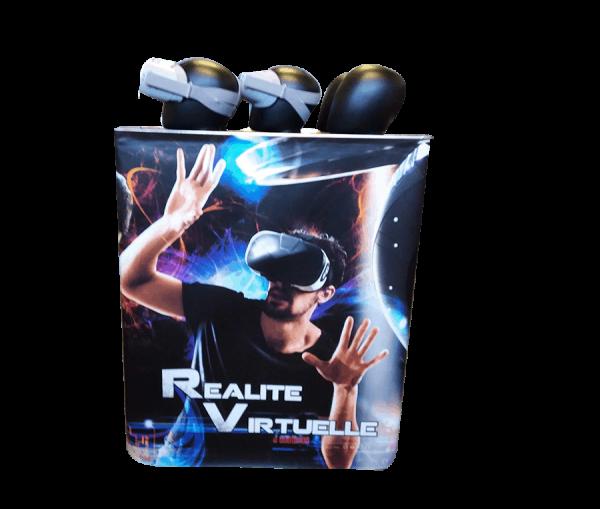 Réalité virtuelle : le stand avec 5 casques oculus go