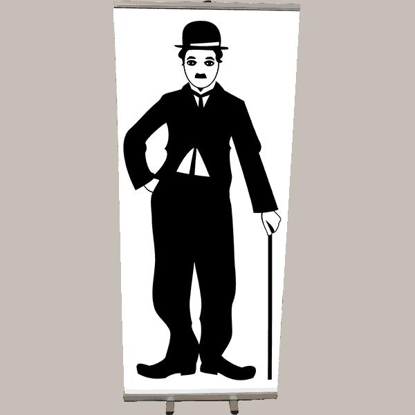 Roll Up Chaplin silhouette 85x200