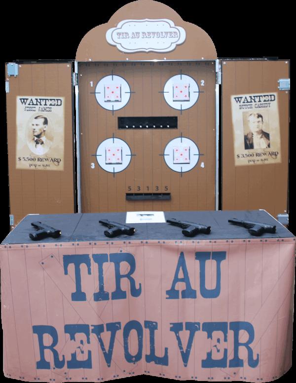 Tir au revolver : version PNG