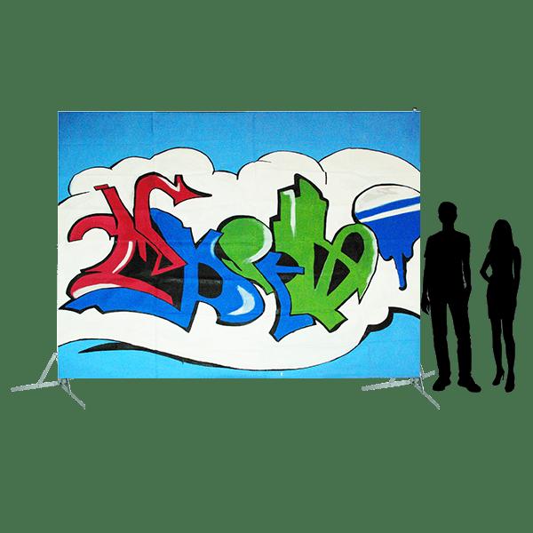 Toile 12 - Graffitis bleus