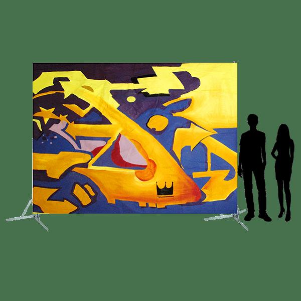 Toile 14 - Graffitis jaune & bleu
