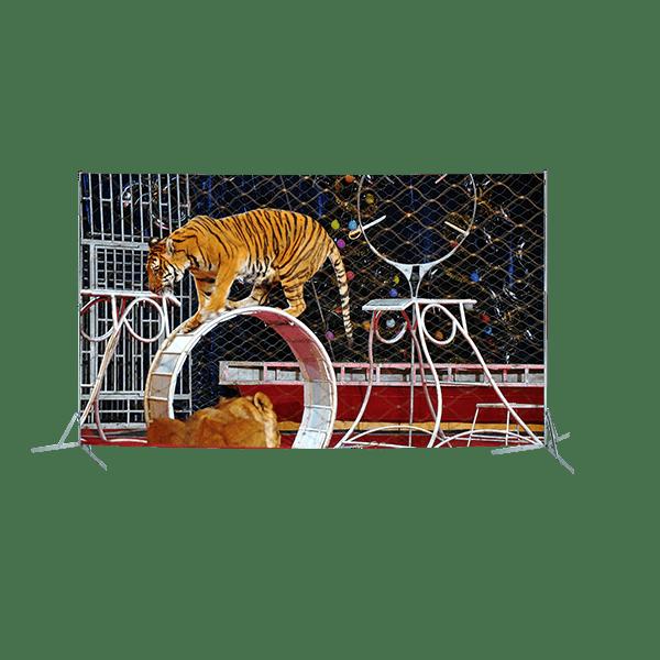 Toile géante : Les tigres au cirque