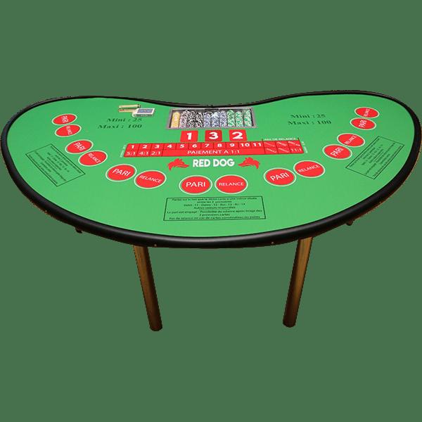 casino Red Dog : la table détourée