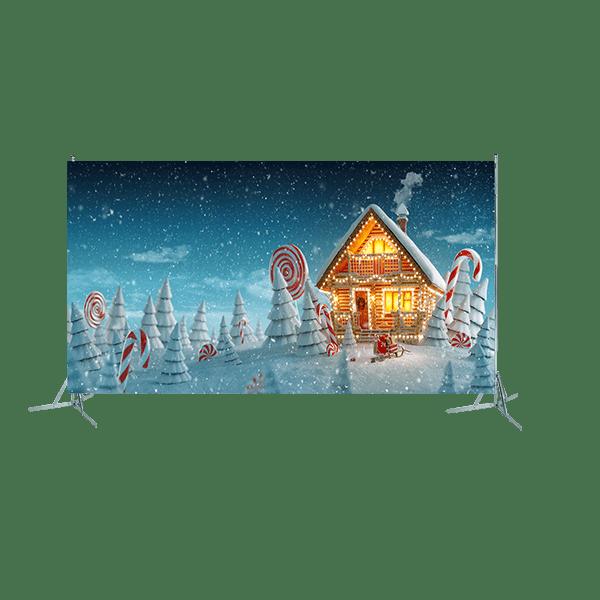 Toile géante : décor de Noël