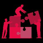 Icône Challenge entre les équipes de travail