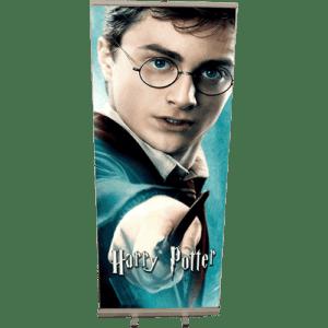 Roll up de décoration : Harry Potter et sa baguette