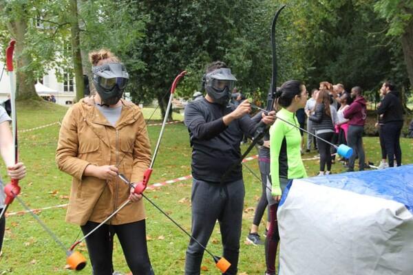 Archery tag : mise en place