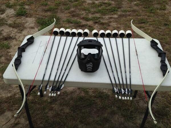 Archery tag : le matériel