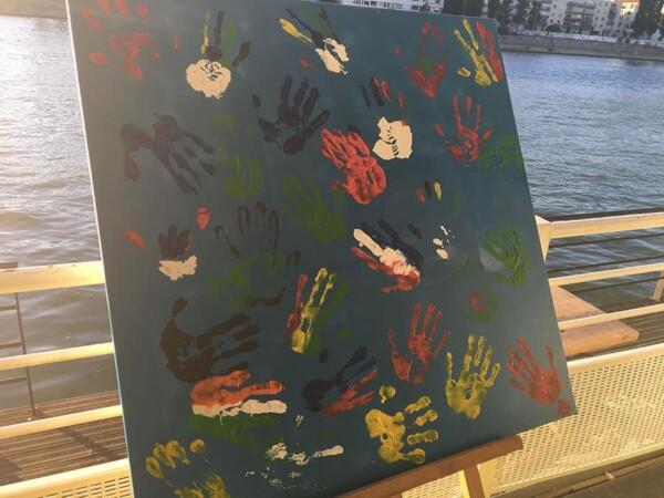 Fresque géante : la toile