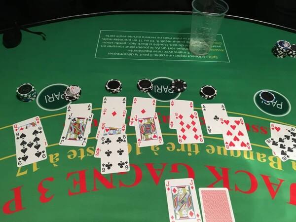 Black jack : les cartes de jeu