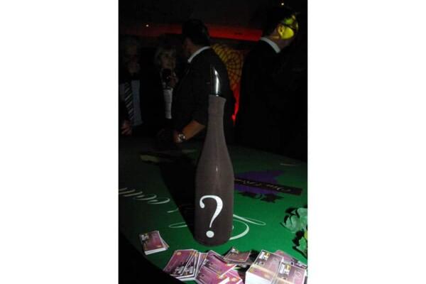 Casino du vin : bouteille en jeu