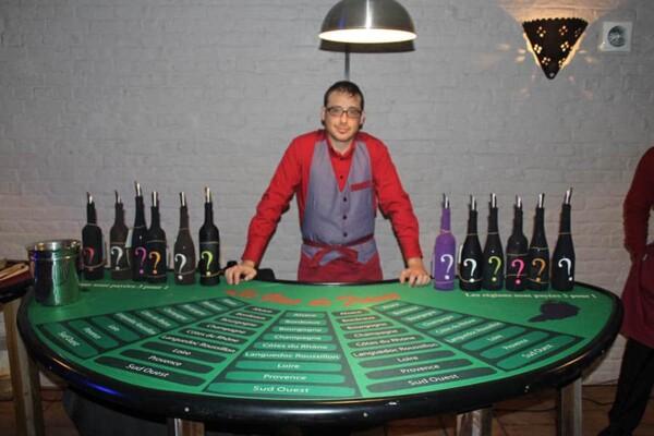 Casino du vin : croupier