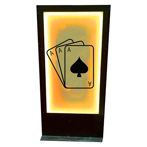 Panneau casino jeu de cartes