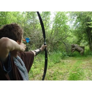 Coeur de cibles : tir sur animal factice