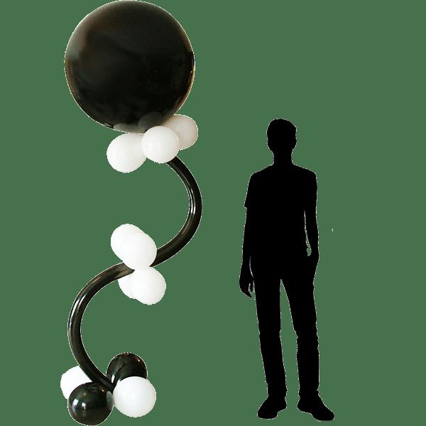 Colonne en ballons à ressort : image de présentation