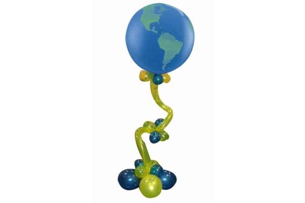 Colonne en ballons à ressort : ambiance autour du monde