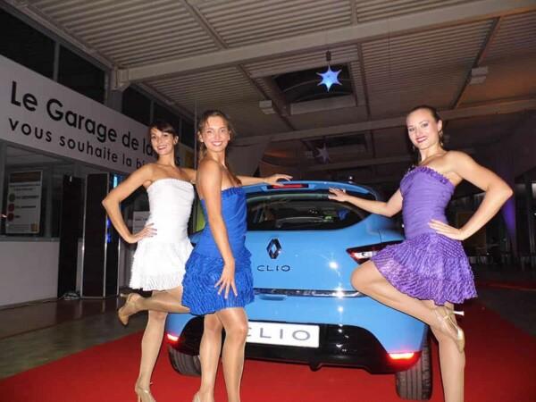 Danseuses : lancement d'un véhicule