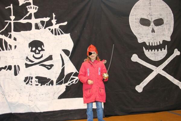 Décor toiles géantes : noël pirate