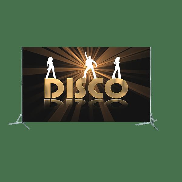 Toile géante : disco personnages