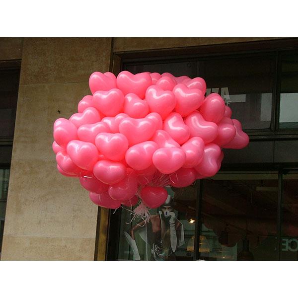 Distribution ballons St Valentin Coeur1