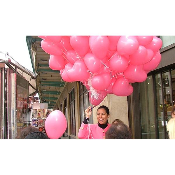 Distribution ballons St Valentin Coeur2