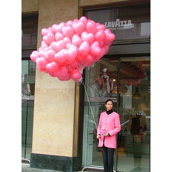 Distribution ballons St Valentin Coeur3