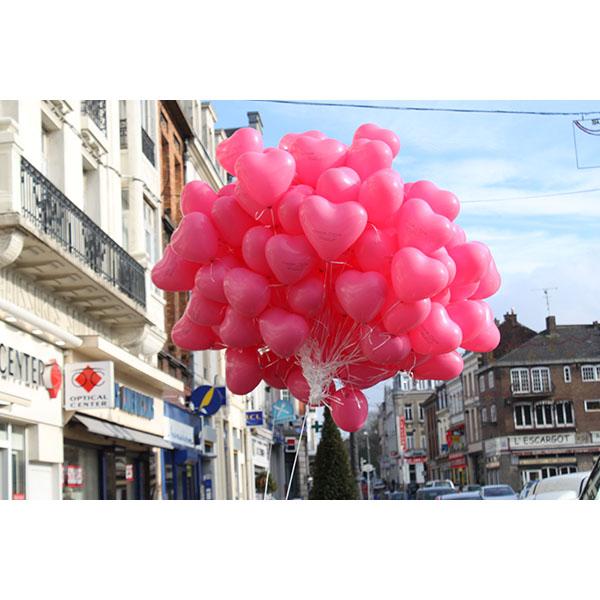 Distribution ballons St Valentin Coeur8