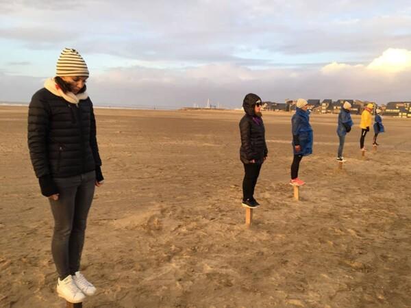 Epreuve des poteaux : l'epreuve sur la plage