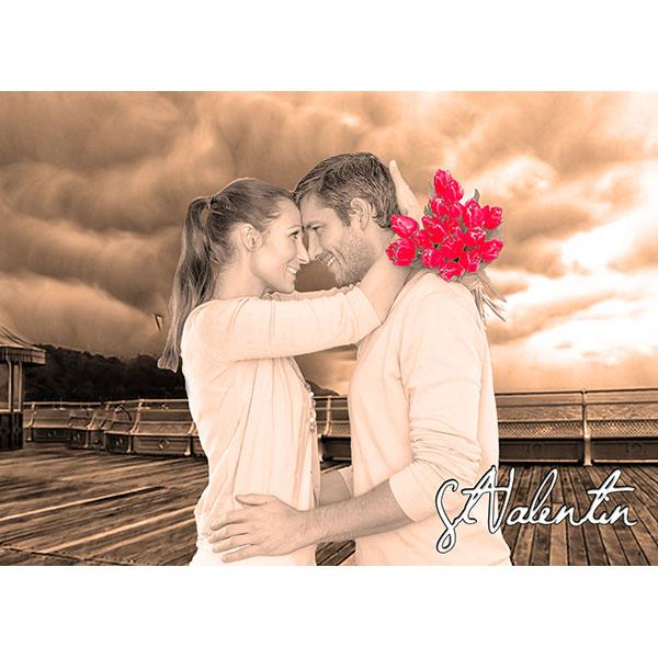 Fond romantique color splash