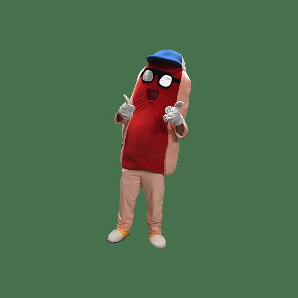 Mascotte hot dog : image détourée