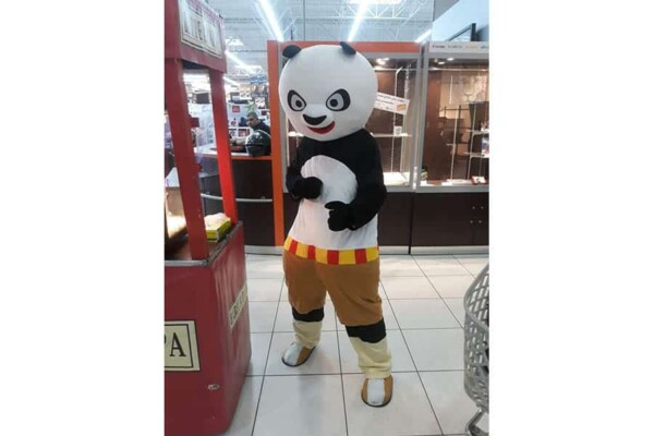 Mascotte kung fu Panda : prêt au combat
