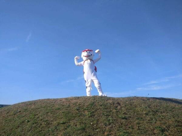 Mascotte Marcus Pat Patrouille : sur la colline