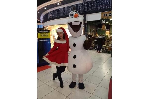 Mascotte Olaf : avec lynda