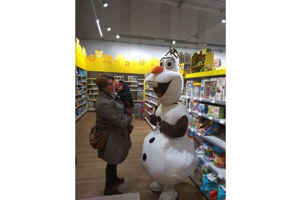 Mascotte Olaf : dans la galerie