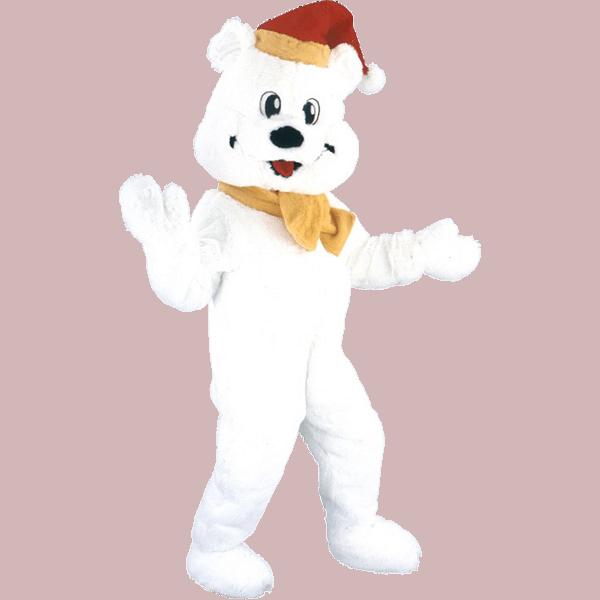 Mascotte Ours blanc de Noel 8 4