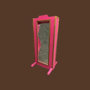 Miroir déformant : rose