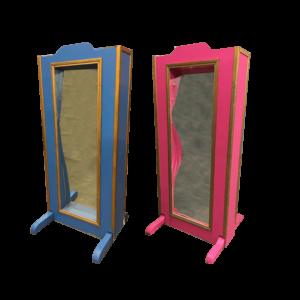 Miroir déformant : les 2 miroirs