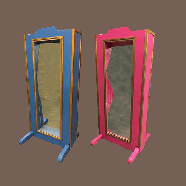Miroir deformant bleu et rose copie 4