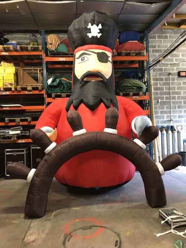 Gonflable de decoration pirate