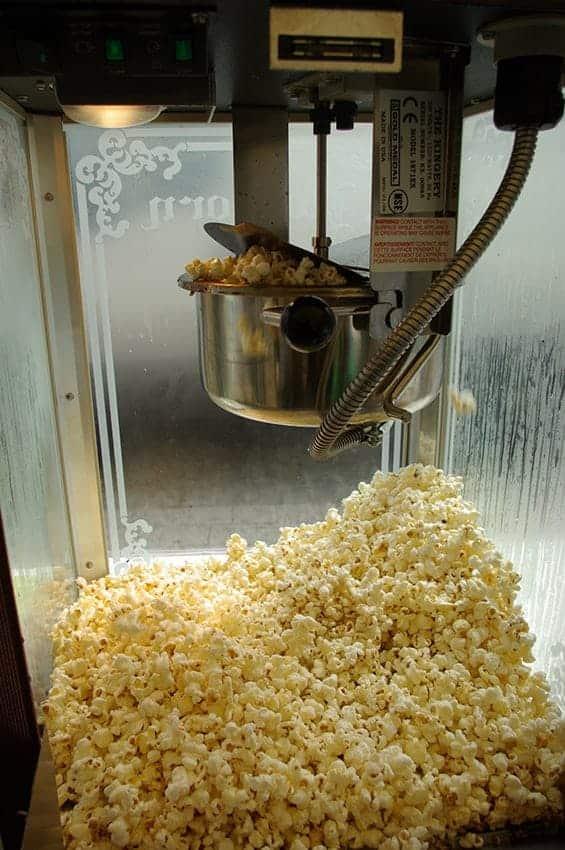Stand Popcorn - la cuisson