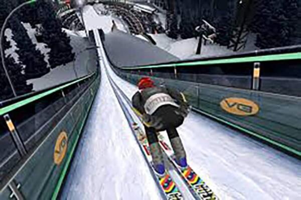 Réalité virtuelle : descente de skis