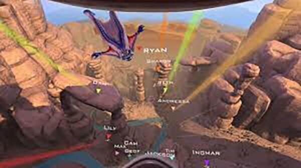 Réalité virtuelle : saut en wingsuit