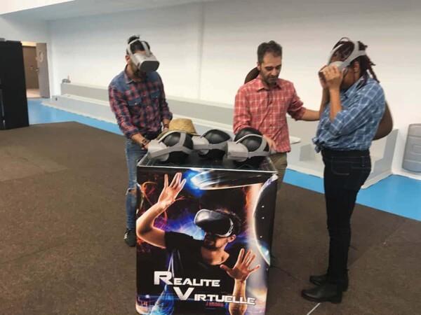 Realité virtuelle : test ensemble