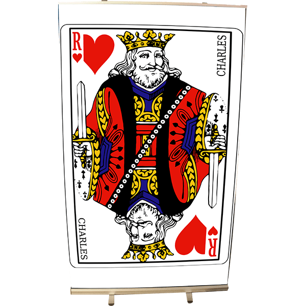 Roll Up 120 x 200 Carte Roi de coeur