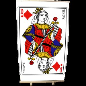 Roll Up 120 x 200 carte Dame de Coeur