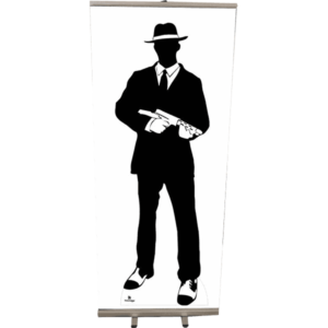 Roll Up 85x200 silhouette gangster 2