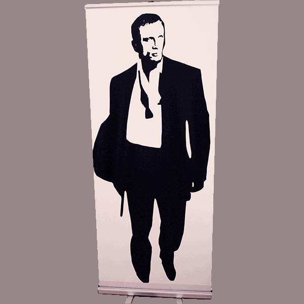Roll Up James Bond silhouette Casino Royale 85x200 copie 4